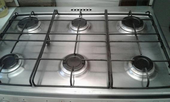 Cocina Bosh Style 6 Hornallas Horno T/ Pizero P/reparar