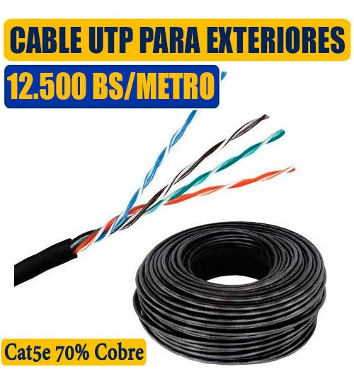 Cable Utp Intemperie Exteriores Outdoor Cat5e Internet Redes