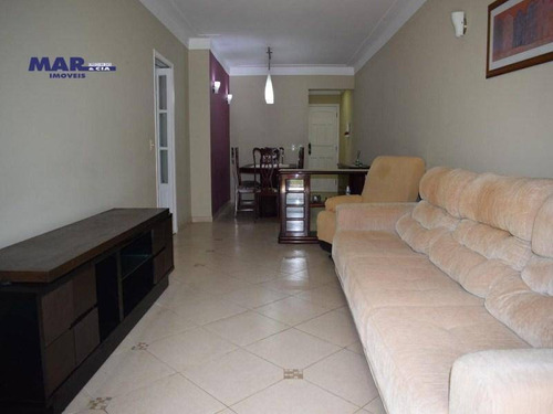 Imagem 1 de 12 de Apartamento Com 3 Dormitórios À Venda, 120 M² Por R$ 530.000,00 - Pitangueiras - Guarujá/sp - Ap10458