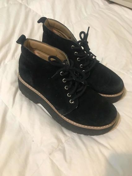 Zapatos Tipo Botín Negro Para Colegio