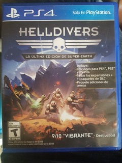 Combo 3 Juegos Helldivers/ Uncharted/infamous Fisico Ps4