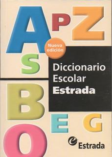 Lote X 10 Diccionario Escolar Estrada Nueva Edicion