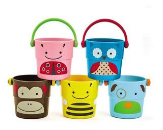 Cubetas Baño Niños, Skip Hop Zoo Stack Pour Buckets 5 Unds