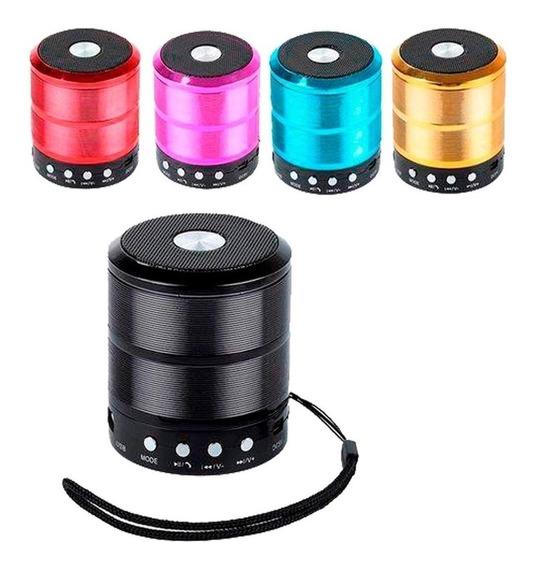 Mini Caixa Caixinha Som Bluetooth Fm Pendrive 9 Horas De Uso