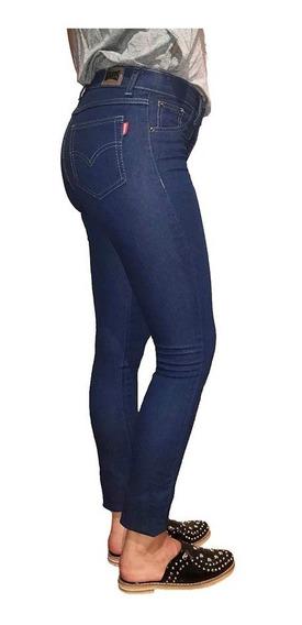 Pack X 12 Pantalon Jean Mujer Azul Chupin Elastizado X Mayor