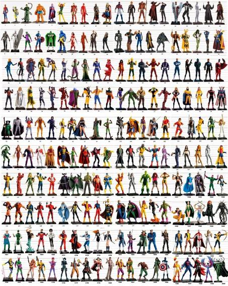 Colecionáveis Eaglemoss Marvel E Dc Comics Com 56 Itens
