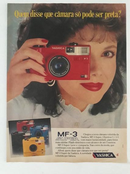 Propaganda Antiga Câmera Fotográfica Mf 3 Super Yashica Anún