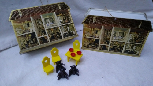 Lote De Juguete Miniatura Plastico Osos Mesa Usado Coleccion