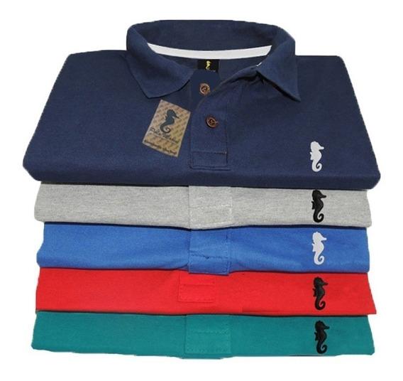Kit 5 - Camisa Gola Polo Masculina Camiseta Atacado Revenda
