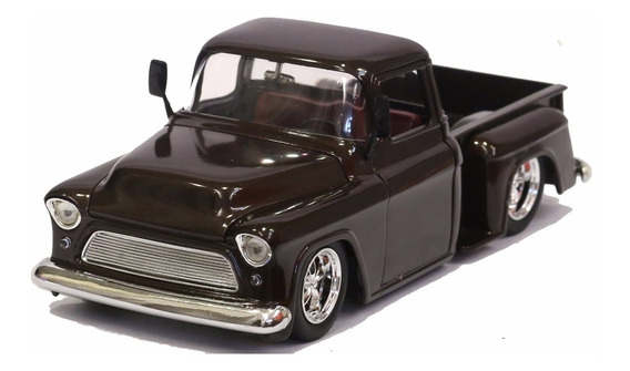 Miniatura Chevy Pickup Stepside 1955 Custom Marrom Jada 1/24