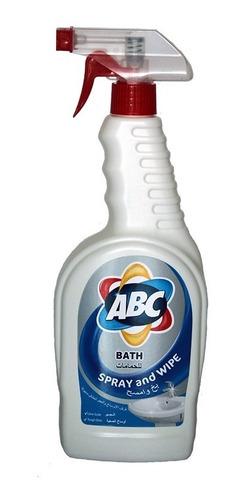 Imagen 1 de 3 de Spray Limpiador Para Baño Marca Abc 750ml