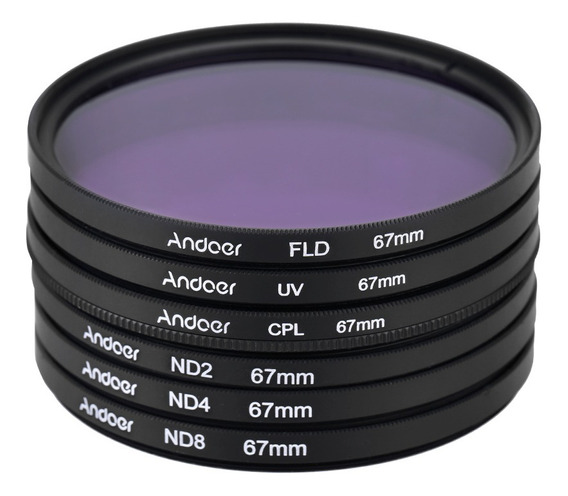 Andoer 67mm Uv + Cpl + Fld + Nd(nd2 Nd4 Nd8) Fotografia