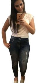 5 Calças Le Jeans Azul Modeladora Promoção Preço De Atacado