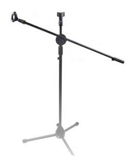 Atril Microfono Metalico Resistente Con Boom-pinzas