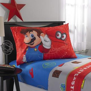 Juego De Sábanas, Super Mario Odyssey. 3 Pzs. Envío Gratis