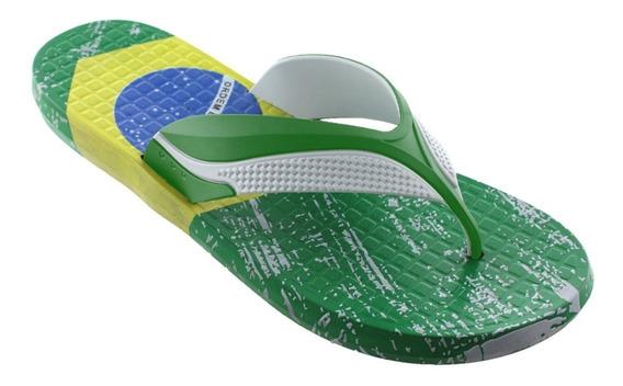 Sandalias Para Caballero Bandera De Brasil Fc-1601