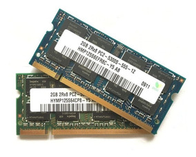 Kit 4 Gb Memória Notebook Hynix 2x2gb Ddr2 Pc2-5300s-555-12