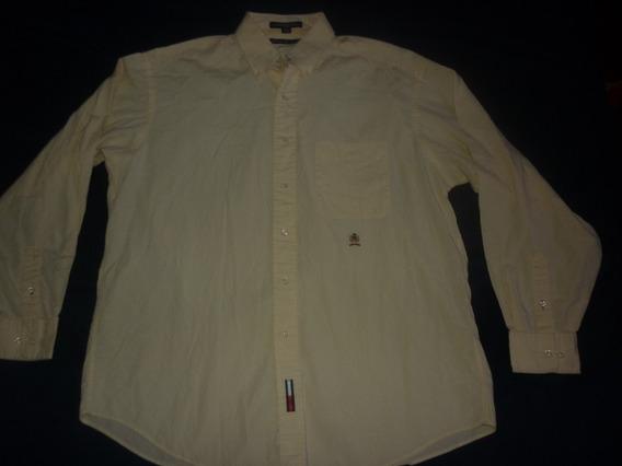 E Camisa Vestir Tommy Hilfiger Amarillo Claro Art 64814