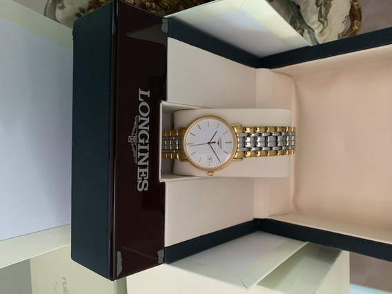 Relogio Longines Presence L4.720.2 Gold Stell & White