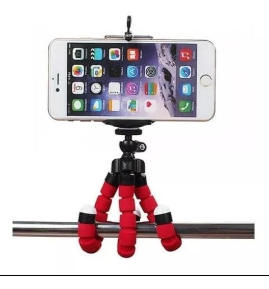 Mini Tripé Flexível Inova Para Celular E Câmera