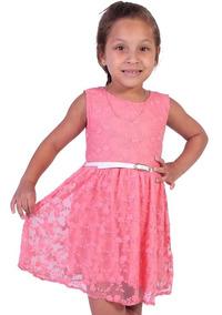 Vestido Em Renda Infantil Cativa - Asya Fashion