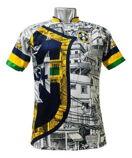 Camisa/camiseta Seleção Brasileira Brasil - Torcedor Favela