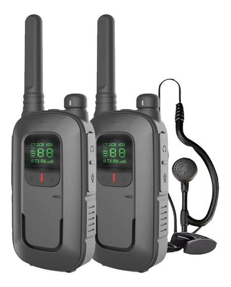 Kit X 2 Handy Baofeng Radio Walkie Talkie Bft12 16ch Uhf Lcd