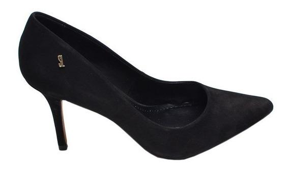 Sapato Feminino Scarpin Santa Lolla Preto Camurça