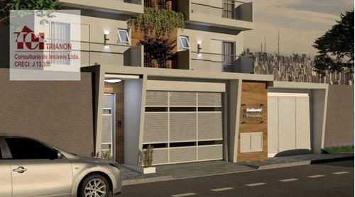 Imagem 1 de 13 de Cobertura Com 2 Dormitórios À Venda, 146 M² Por R$ 711.000,00 - Jardim Bela Vista - Santo André/sp - Co0765