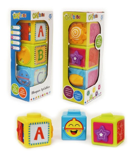 Juguete Bebe Didacticos Bloques Apilables Ok Baby Babymovil