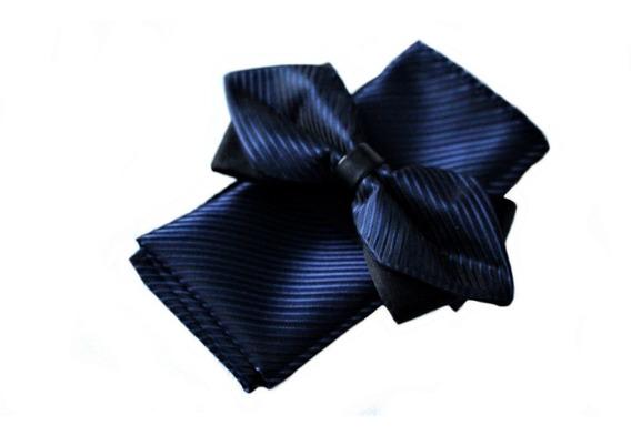 Set Humita + Pañuelo Color Azul Marino 100% Seda
