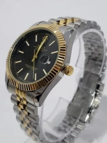 Relógio Unissex Preto/prata/dourado 36mm