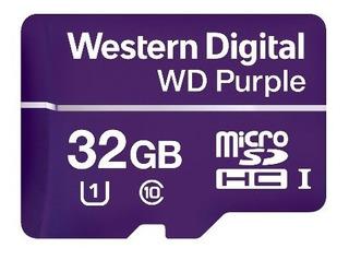 Western Wdd032g1p0a- Memoria De 32gb Micro Sdhc Purple/ Espe