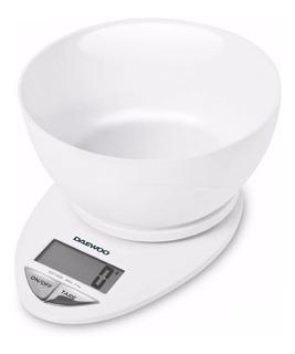 Balanza De Cocina Digital Con Bowl Daewoo Función Tara 3kg