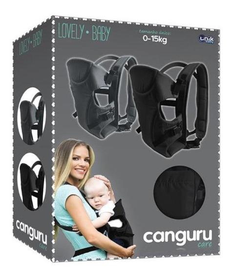 Suporte Canguru Preto Para Bebê Lovely Baby Care - Unik