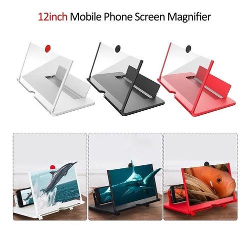 Imagem 1 de 3 de Tela Lupa 3d Para Aumento De Imagem Do Celular 12 Polegadas