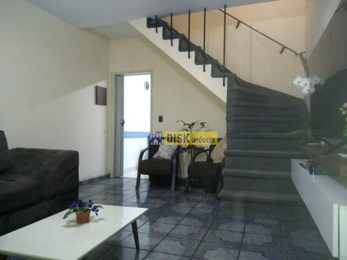 Imagem 1 de 28 de Sobrado Com 3 Dormitórios À Venda, 154 M² Por R$ 550.000 - Vila Gonçalves - São Bernardo Do Campo/sp - So0782