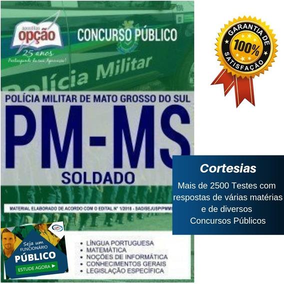 Apostila Pm Ms Polícia Militar Mato Grosso Do Sul - Soldado
