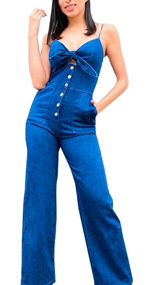 Palazzo Mujer Jumpsuit Mezclilla Dama Jeans Pantalones /j