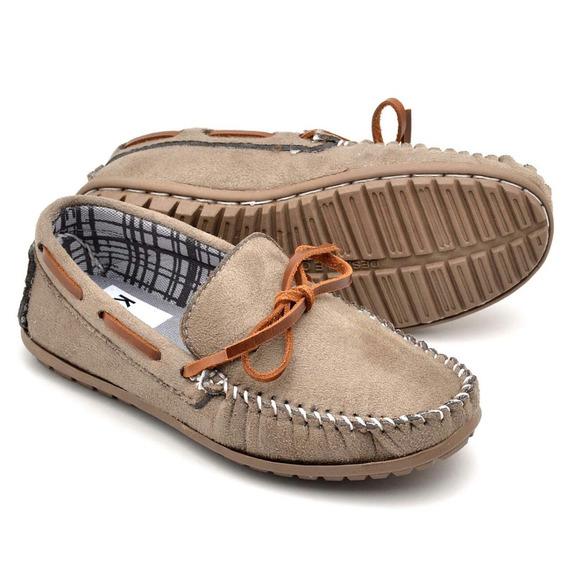 Sapato Mocassim Infantil Masculino 100% Couro Casual Moderno