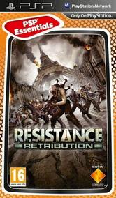 Jogo Resistance Retribution Playstation Psp Mídia Física
