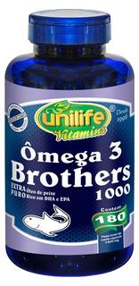 Ômega 3 Brothers 180 Cápsulas 1400mg Epa Dha - Unilife