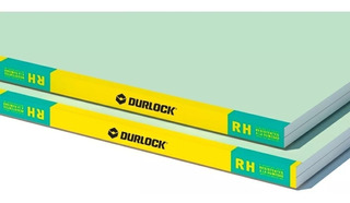 Placa Durlock Antihumedad Paredes Verde Yeso 12.5mm 1.2x2.4m