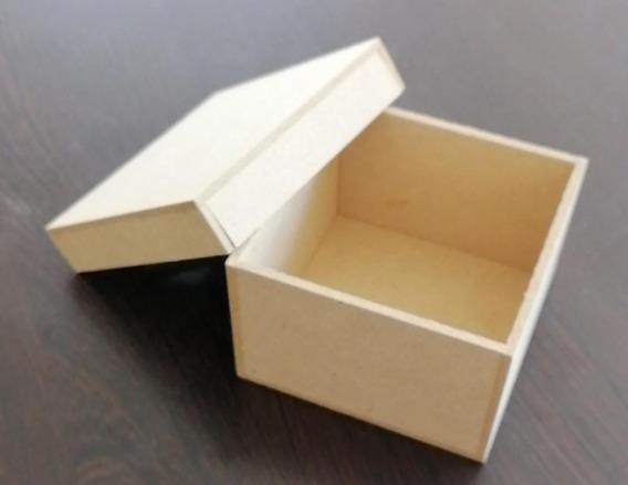 Caja Con Tapa Mdf Medidas 8cm*8cm*5cm