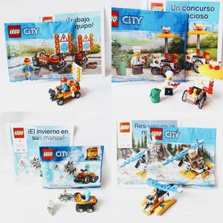 Lego City - Pack X4 Calles + Panchos + Rompehielo - Aeronave