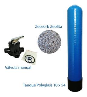 Tanque Polyglass 10x54 Valvula Manual +medio Zeosorb Zeolita