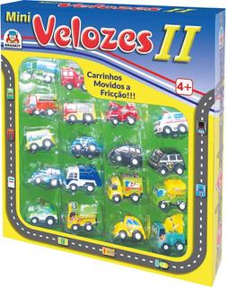 Coleção De Carrinhos Em Miniaturas A Fricção - 18 Unid