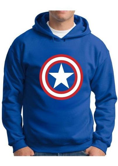 Moletom Escudo Capitão América Marvel - Tamanhos Especiais