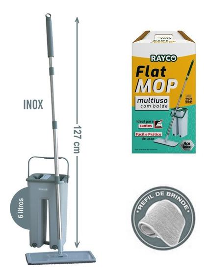 Mop Lava E Seca Flat Multiuso Vertical + Refil Extra Rayco