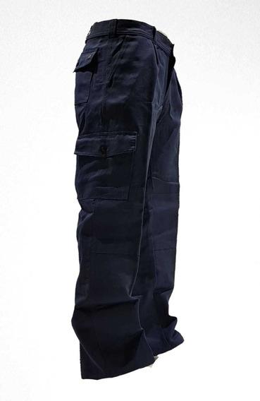 Pantalon Cargo Azul Reforzado Grafa Linco El Mejor T.40-48
